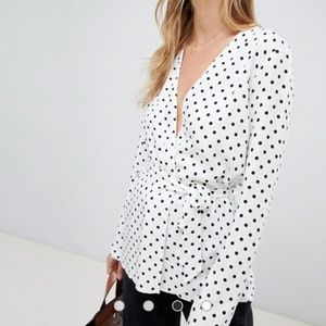 ASOS Black & White Polka Dot Blazer